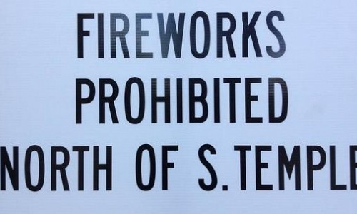 Fireworks Prohibited in the Avenues